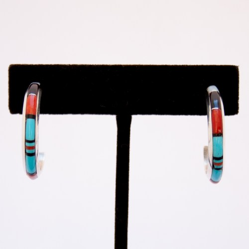 Chico Multicolour Inlay Hoop Earrings
