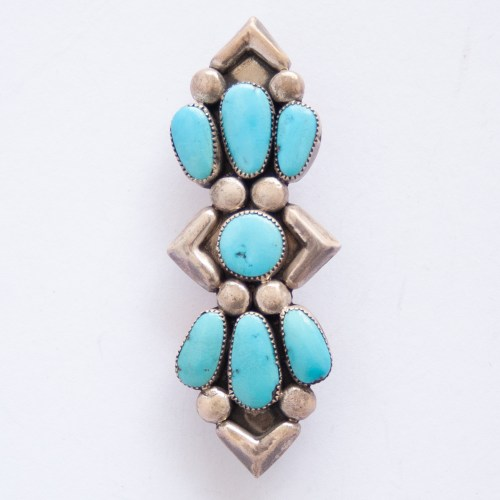 Julie O. Lahi Turquoise Pin Brooch Pendant Bolo Tie Piece