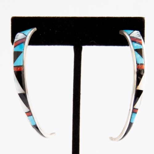 Phylis Lucio Inlay Hoop Earrings