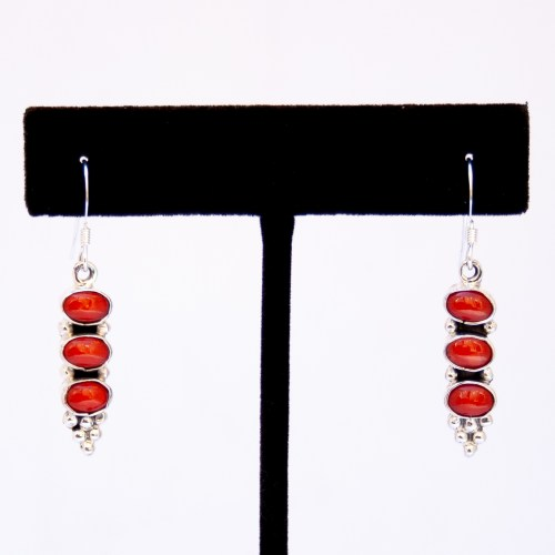 Gary Shorty Red Coral Drop Earrings
