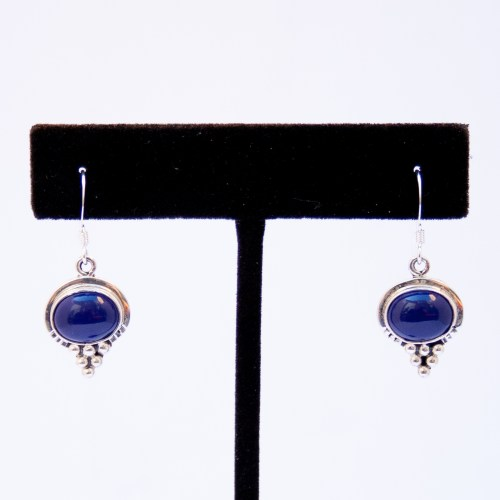 Small Native American Lapis Lazuli Drop Earrings
