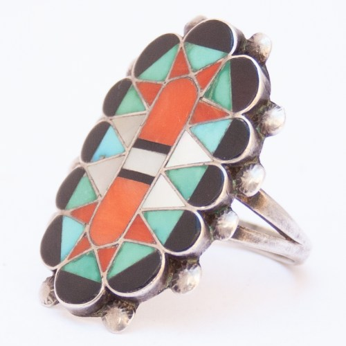 1930's Vintage Lucio Inlay Zuni Ring