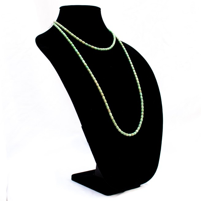 Long Green Turquoise Lariat Necklace