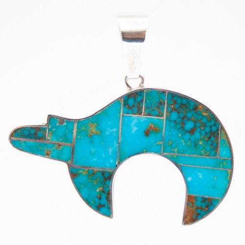 Harold Smith Turquoise Bear Pendant