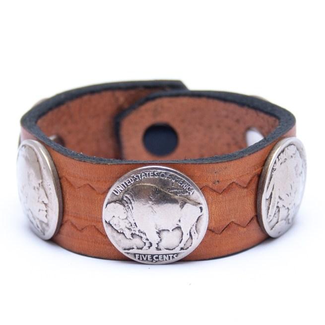 Bracelet Amérindien Cuir Pièces