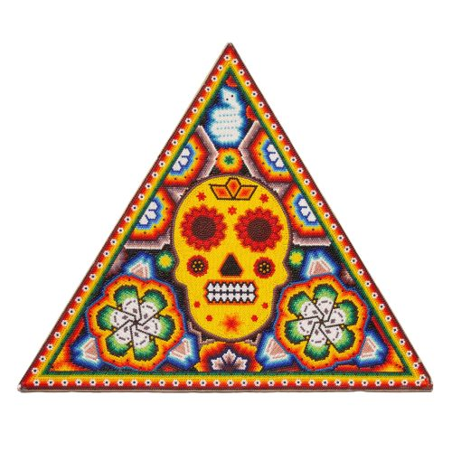 Day Of The Dead Triangle Huichol Beadwork