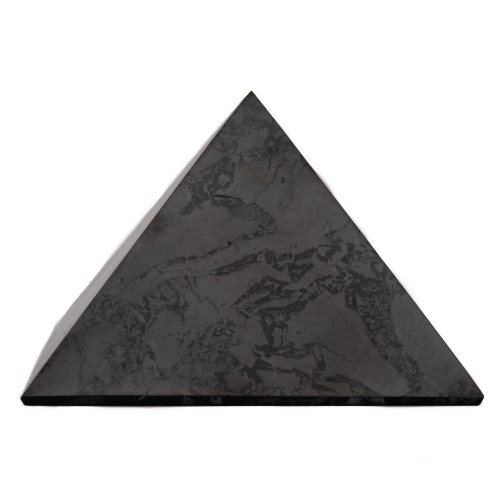 Large Shungite Crystal Pyramid