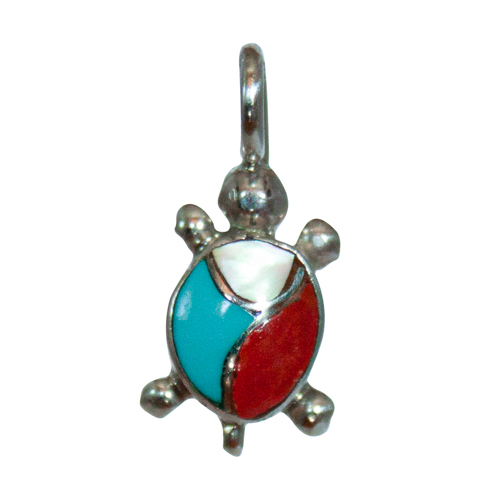 Small French Turtle Pendant