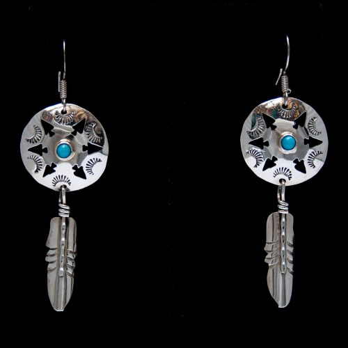 Jeff James Jr Medicine Shield Earrings