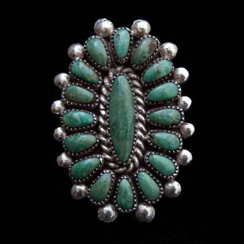Green Turquoise Zuni Ring