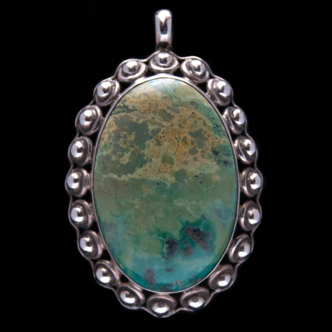 Large Turquoise Silver Pendant
