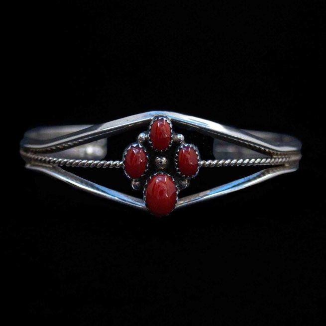 Native American Coral Bracelet
