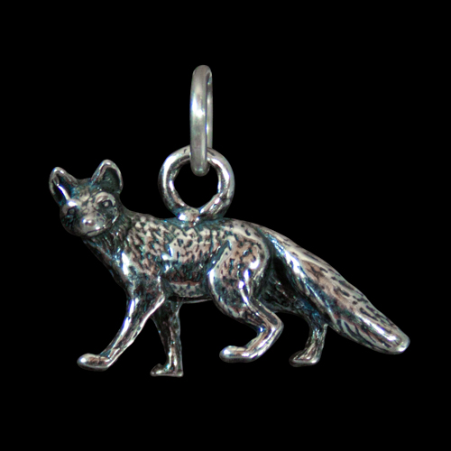 Small Silver Fox Pendant