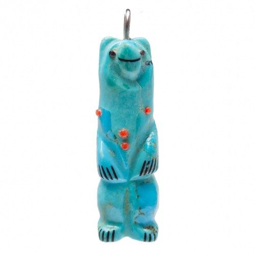Pendentif Ours Turquoise