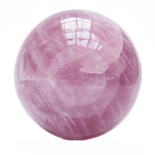 Large Rose Quartz Crystal Ball