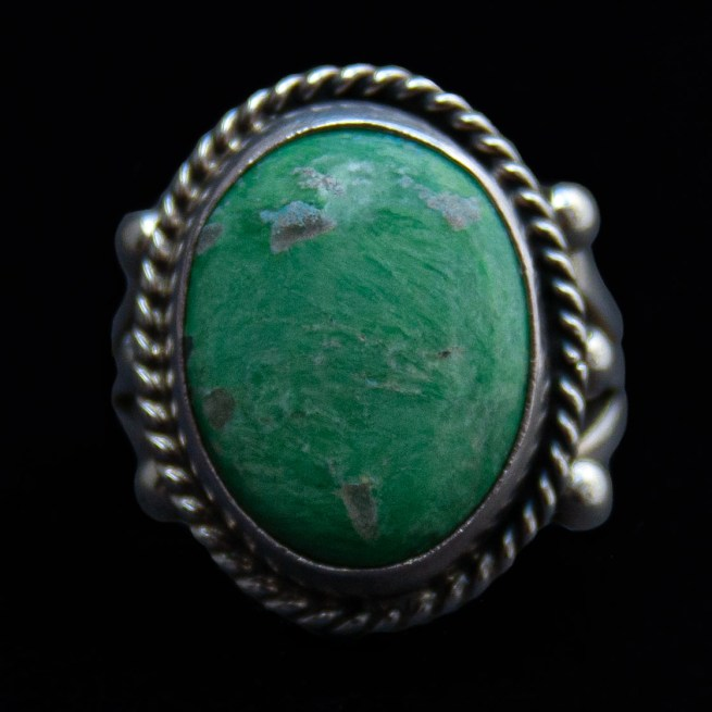 Round Green Turquoise Ring