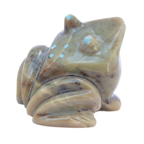 Green Frog Carving