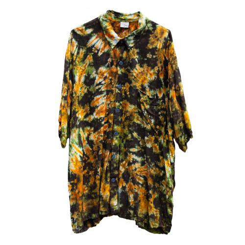 Brown Tie-Dye Shirt