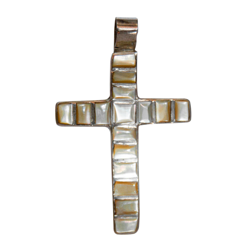 Golden Mother-of-Pearl Crucifix