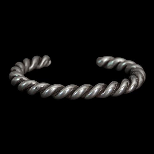 Large Silver Rope Bracelet