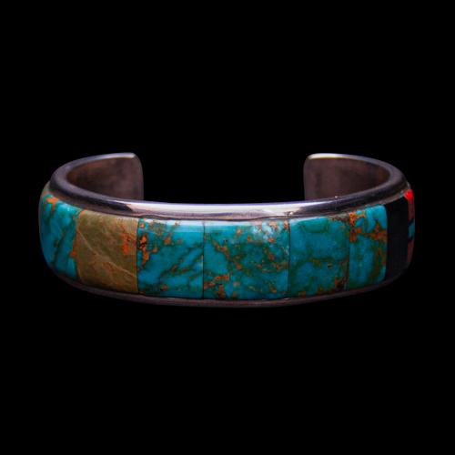 Multi Turquoise Inlay Bracelet