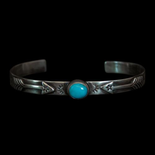 Silver Arrow Turquoise Bracelet