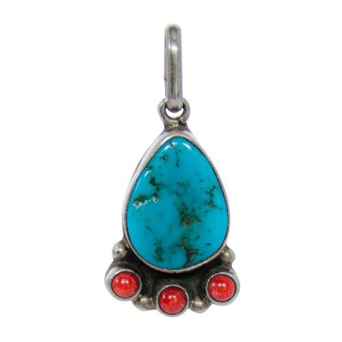 Martin Perry Turquoise Coral Pendant