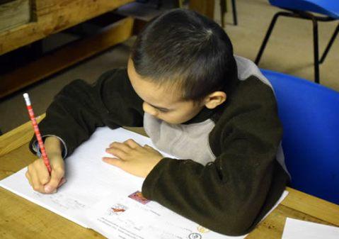 Pupil at Wilderness School