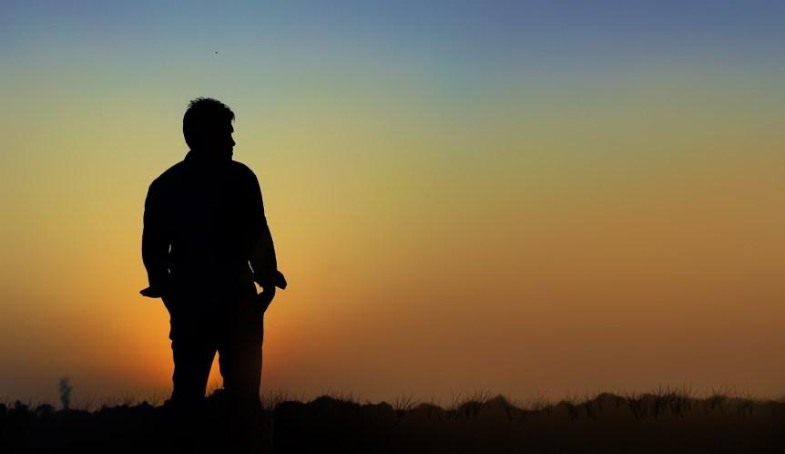 silhouette man History Channel Alone Gear List