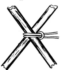 Filipino Diagonal Lashing - begin with loop