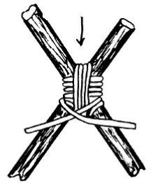 Filipino Diagonal Lashing - Divide ropes