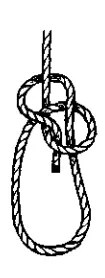 Bowline knot construction Step 3