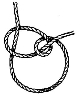 A Running Bowline (noose) knot