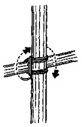 Square Lashing - wrap vertical turns