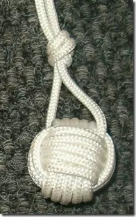 Monkey Fist knotted bola