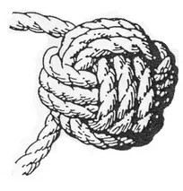 Pull tight to complete the monkey fist knot