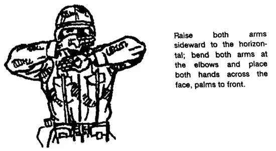 How to use hand and arm signals (visual signaling) to