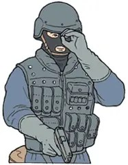 Hand signal for sniper