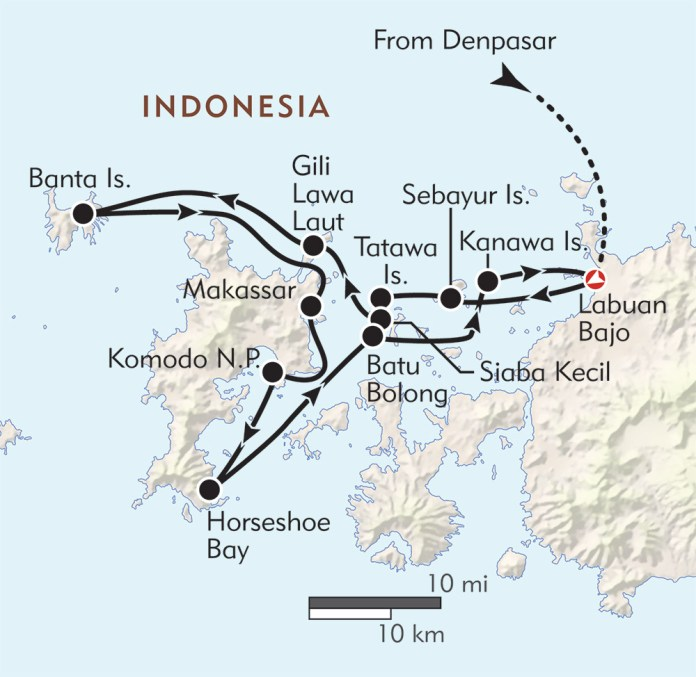 Komodo Dragon Location Map