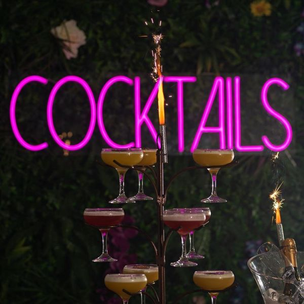 cocktail custom led neon sign with cocktails by wildfire neon