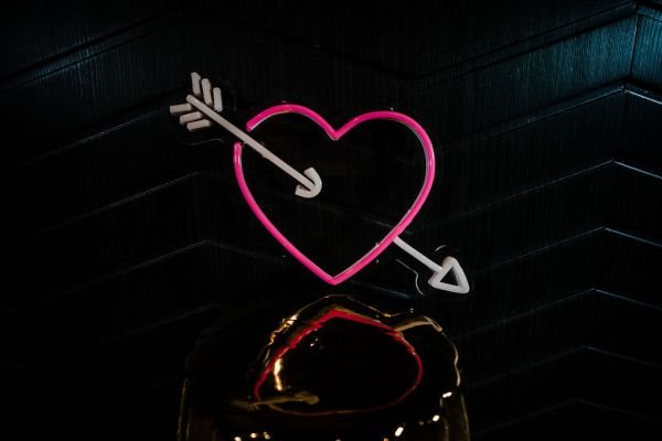 wildfire led neon sign Heart and arrow pink blue led neon sign 3