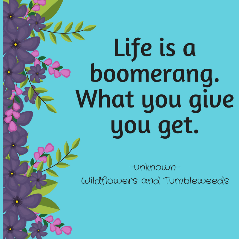 Life Is A Boomerang! It Takes Some Practice!
