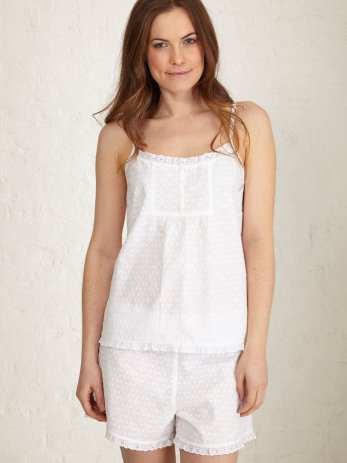 santorini white broderie cami front (Large)