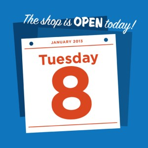 open noon to 5pm every day