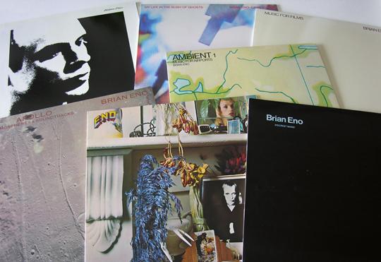 Eno vinyl at Wild Honey Records