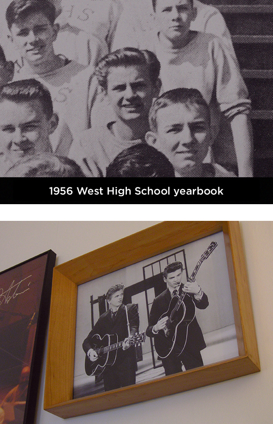Phil Everly West High School yearbook