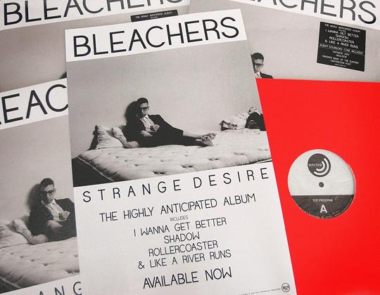 Bleachers Strange Desire test pressing vinyl