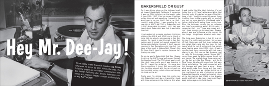 Wild Honey Records ZINE article - Hey Mr. Dee-Jay! Part 1