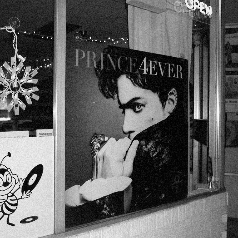 PRINCE_4EVER_poster_wild_honey_records_knoxville_tennessee_record_store