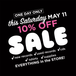 Knoxville record store sale - 10% off everything!